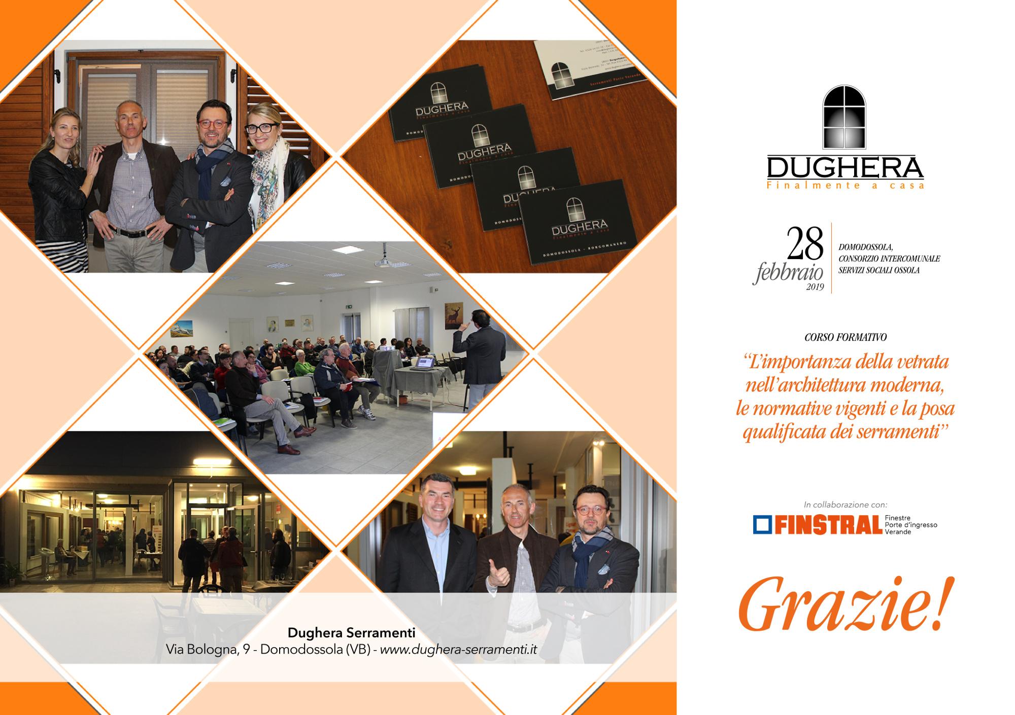 Le immagini del Corso Formativo Dughera con Finstral