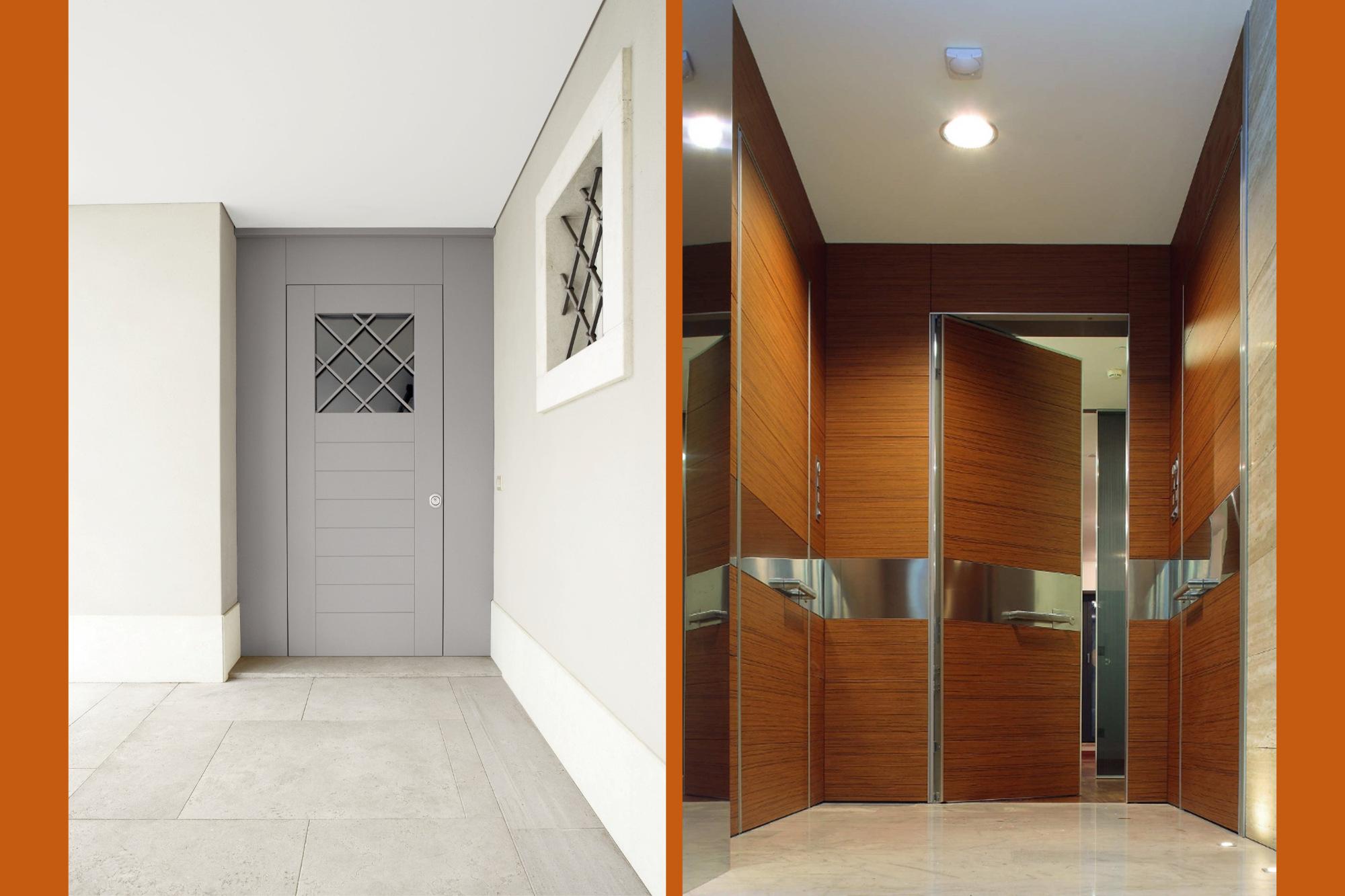 Due modelli delle porte blindate che Dughera Serramenti propone grazie alla partnership con Oikos