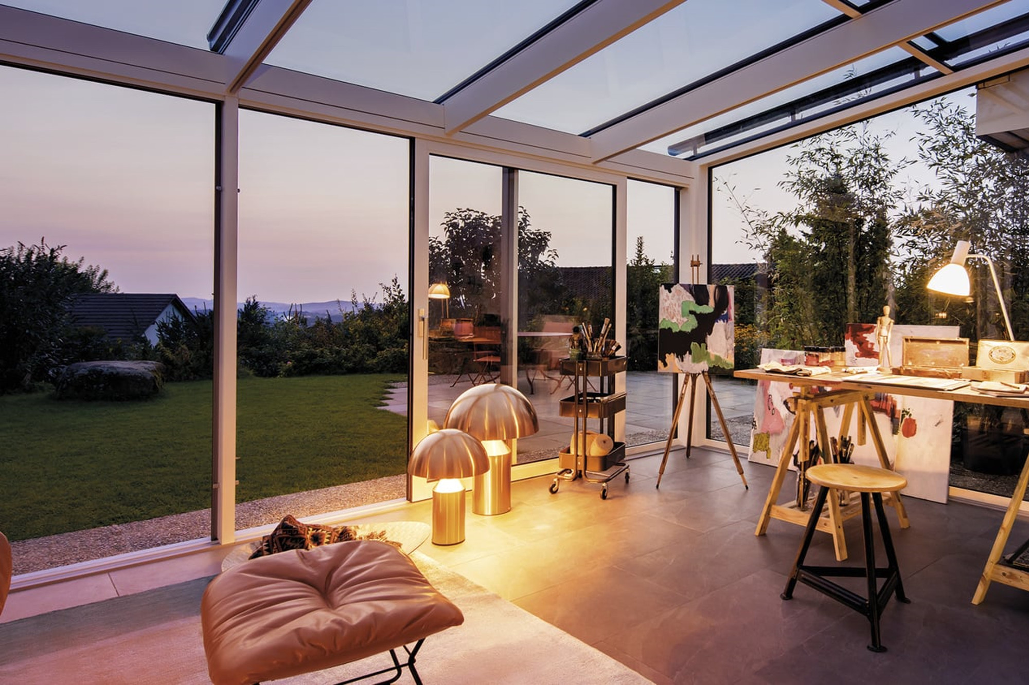 Veranda in PVC bianco Finstral: con le verande proposte da Dughera Serramenti nuovi spazi per la tua casa