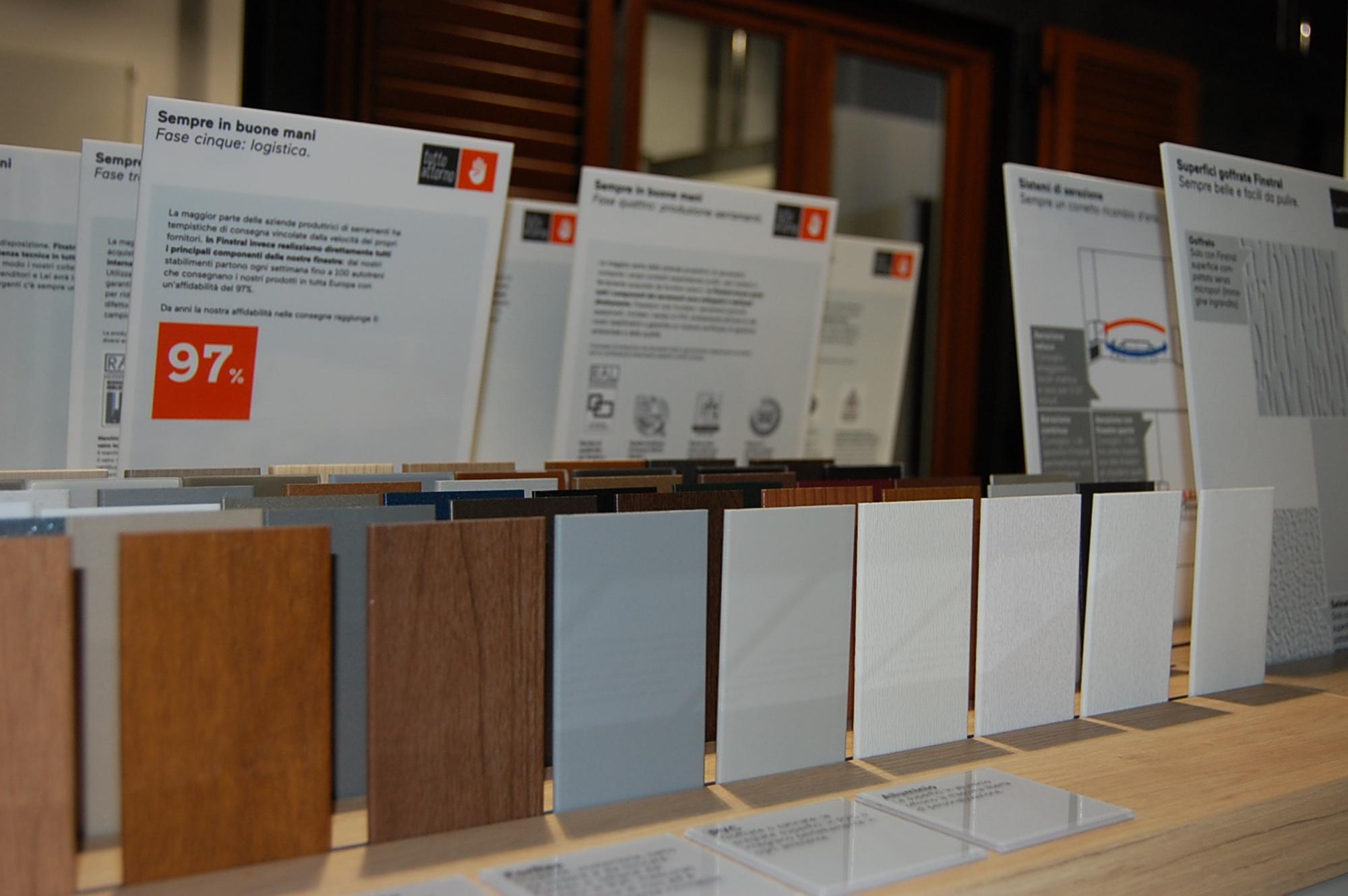 Varietà materiali serramenti