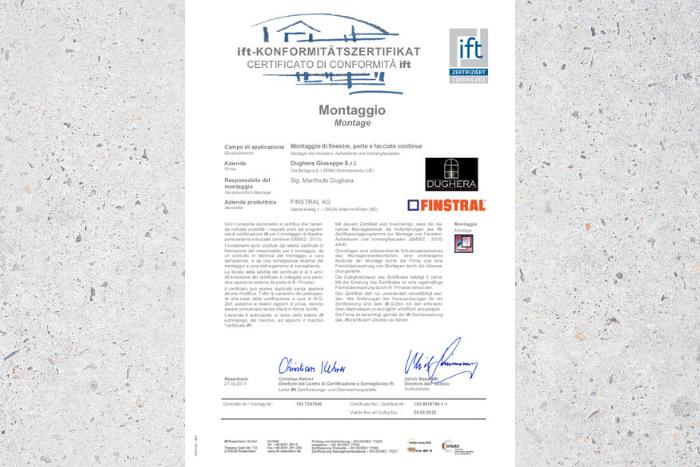 Dughera Serramenti Certificazione ifa Rosenheim